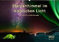 Sternenhimmel im magischen Licht - Polarlicht und Milchstrasse (Wandkalender 2022 DIN A2 quer): Der Himmel in leuchtenden Farben. (Monatskalender, 14 Seiten )