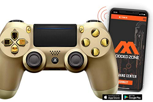 Gold St/Gold PS4 PRO Smart Rapid Fire Modded Controller Mods for FPS All Major Shooter Games Warzone & More (CUH-ZCT2U)