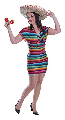 Bristol Novelty AC527 Costume Vestito Signora Messicana