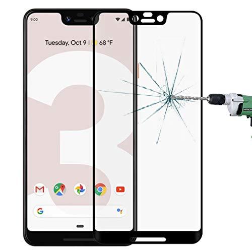 WDCKXY. HH-Mobiltelefon-Bildschirm-Schutzfilm 0,3 mm 9H Oberflächenhärte 3D kurvige Kante Vollbild-gehärteter Glasfilm für Google Pixel 3 XL