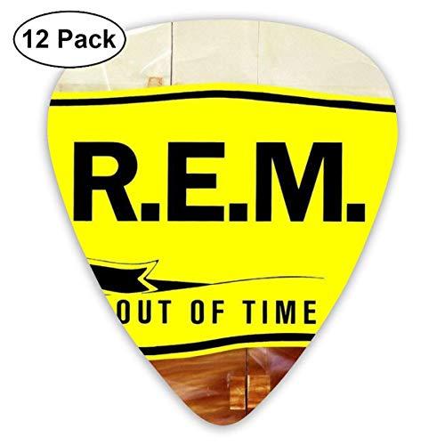 Rem Out of Time Celluloid Plektren (12er Pack) für E-Gitarre, Akustikgitarre, Mandoline und Gitarrenbass