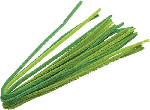 Knorr prandell 218471043 Biegeplüsch-Mix (50 cm lang, 6 mm Durchmesser, 10 Stück) maigrün
