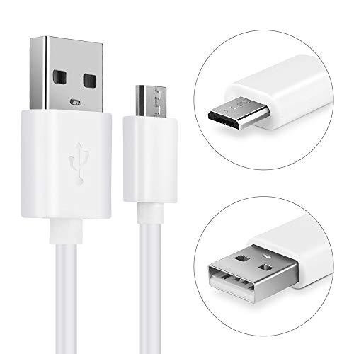CELLONIC® USB Kabel 1m kompatibel mit UE Boom 1, 2 / Blast/Megaboom/Megablast/Wonderboom/Roll 1, 2 Ladekabel Micro USB auf USB A 2.0 Datenkabel2Aweiß PVC
