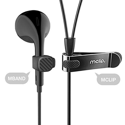 Mband2 Pack of Mband Mclip Holder 03 Black - Organizing Multipurpose Earphones Earbuds Cable Multi Color Keychain Clip Holder Tangle Magnets Hanging Holding Organize System