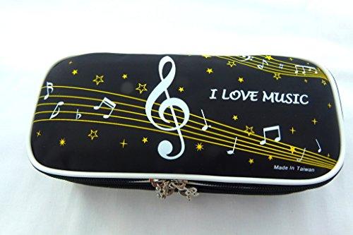 Musik-Themen Große Tastatur und Musical Note Design-2 Layer Federmäppchen Mäppchen mit Handgriff