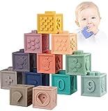 Weich Baby Bausteine - Motorikspielzeug Stapelwürfel Bauklötze