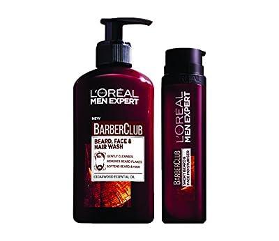 L'Oreal Men Expert Beard Care Kit for Men - Barber Club Beard, Face & Hair Wash Plus Men Expert Barber Club Beard and Face Moisturiser from