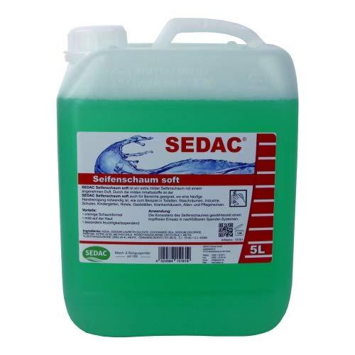 SEDAC Seifenschaum soft 5L Nachfüll-Kanister | Schaumseife zum täglichen händewaschen, ideal für Spendersysteme und Schaumseifenspender