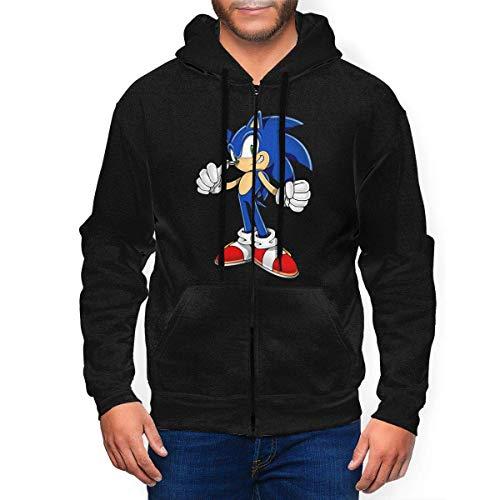 EYSKJ Hoodie Capucha So-Nic The Hedgehog Men's Zip Up Pullover Sudadera Fashion Sweatshirt 3D Printed Hooded with Pockets