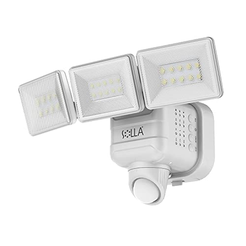 Outdoor Motion Sensor Light, SOLLA 750lm Wireless Battery Operated Outdoor Lights, 5000K Daylight Dimmable LED Flood Light, Waterproof Security Lights...