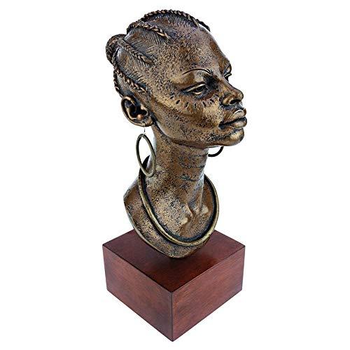 Design Toscano African Negresse Princess Bust Statue, Bronze