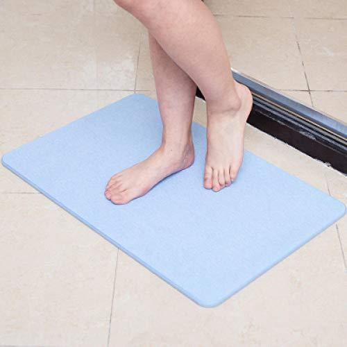 njiul Kieselgur, Badezimmer, saugfähig, rutschfest, Kieselgur, schnell trocknend, Toilette, Bodenmatte-[Hellblau]_30x30cm