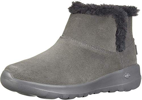Skechers Damen ON-The-GO Joy - Bundle UP-15501 Kurzschaft Stiefel, (Charcoal Suede Charcoal), 38 EU