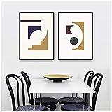 un known Cuadros Decoracion Salon Figura geométrica Moderna minimalismo Abstracto galería Arte de la Pared póster de Imagen decoración del hogar Imprimir 15.7x23.6in (40x60cm) x2pcs sin Marco