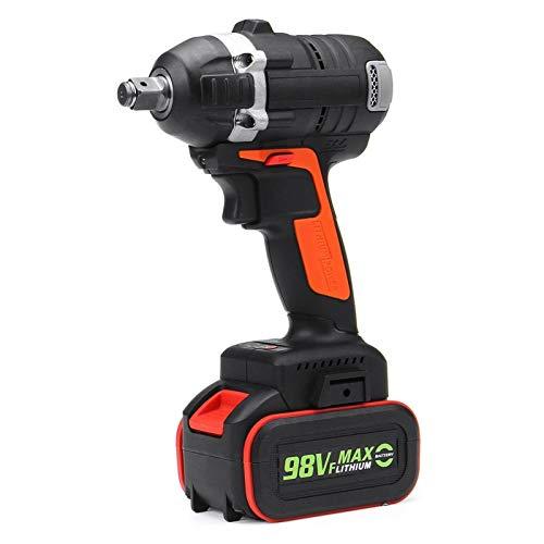 Práctico 520nm sin escobillas llave eléctrica inalámbrico impacto de impacto llave de zócalo 10000mAh batería taladro de mano herramientas eléctricas fácil de usar (Color : 1 battery)