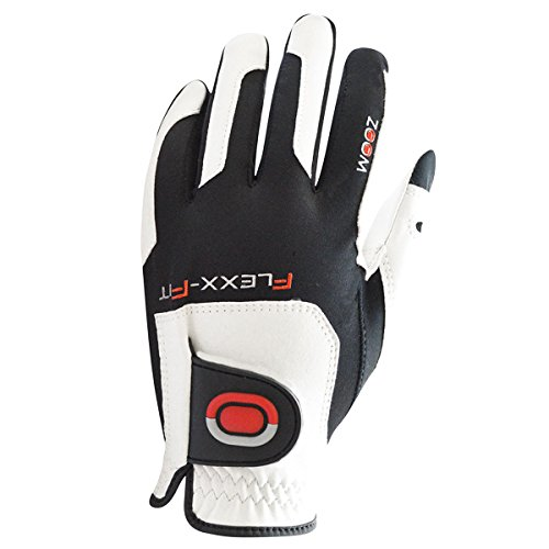 Zoom-Tour Flexx-Fit Golf-Handschuh MLH - Weiß/Schwarz/Rot - Pack of 3