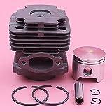 Juego completo de anillos de seguridad de pasador de anillo de pistón de cilindro de 45 mm, piezas de muesca superior para reemplazo de motosierras OLEO-MAC 753 753T EFCO 8530 61112035B, 6111 2035B Pi