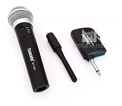 Microfone Sem Fio Profissional Tomate Mt-1002 Completo