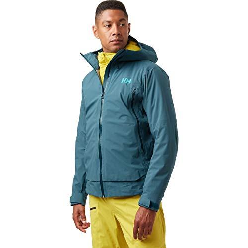 Helly-Hansen Mens Verglas Infinity Waterproof Shell Jacket, 516 North Teal Blue, X-Large