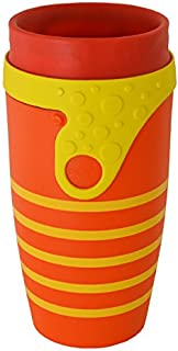Neolid Reusable Twizz Travel Mug. with Straw .Lidless, 100% Leak-Proof, Insulated, BPA Free. Coffee Cup 350ml (Sunset)