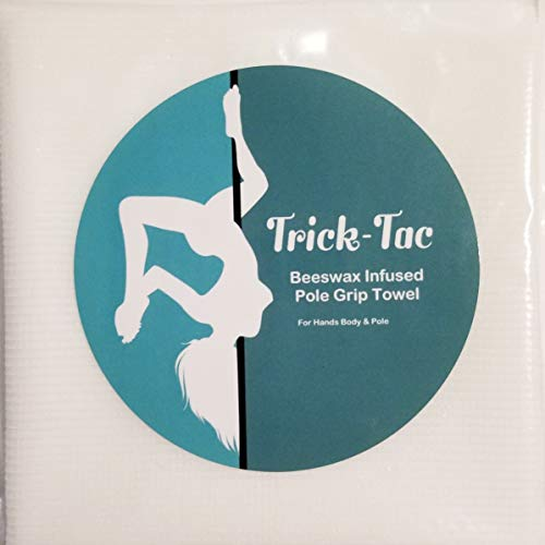 """Trick-Tac Beeswax Infused Pole Grip Towel - Large 9"""" X 18"""""""