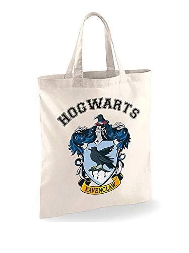 Shopper Tasche - Harry Potter - Ravenclaw - 100% Baumwolle Stofftasche - Größe 35x40 cm