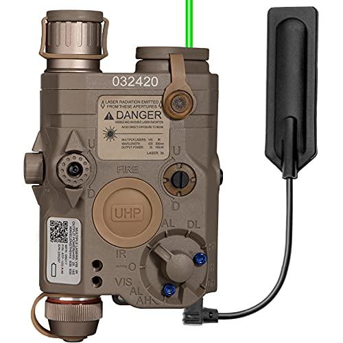 ACTIONUNION Airsoft PEQ 15 Pro Green Laser PEQ Box IR Laser + Green...
