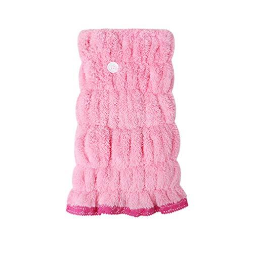 HEALLILY - Serviette de séchage pour cheveux - Turban pour cheveux - Bonnet de douche - Confortable - Nœud - Absorbant - Pour la salle de bain