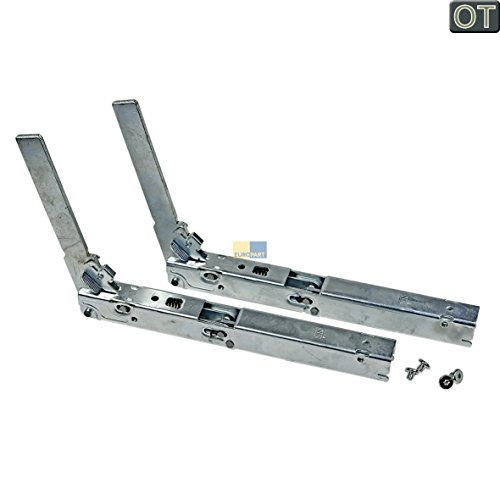 Miele 5474374 ORIGINAL Türscharnier Scharnier Set Backofentürscharniersatz Metallscharnier Backofenscharnier Türscharnierpaar metallisch rechts und links Backofen Ofen Herd