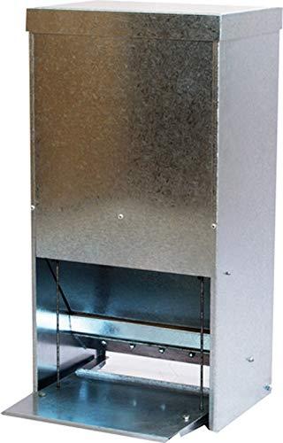 Olba Futterautomat mit Trittklappe für Geflügel - verzinkt - (15L)