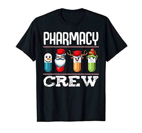 Farmacia Crew Pills Farmacutico de Navidad Medicina Camiseta