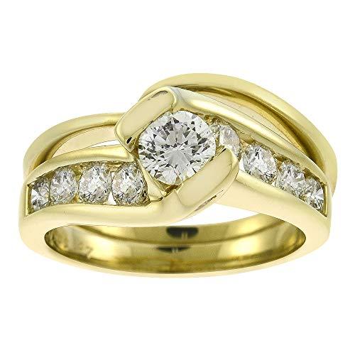 1.41 Carat Round Cut Tension Set Diamond Engagement Ring Set HDS Helzberg...