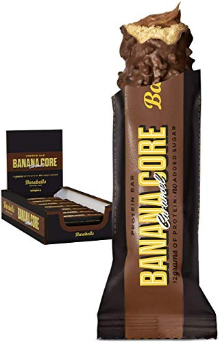 Barebells Proteinriegel Banana Core bar 35g x 18 Proteinreich Kohlenhydratarm Kaum Zucker 20 Gramm Protein pro 55-Gramm-Riegel Köstliche Proteinriegel für Muskelaufbau und -regeneration