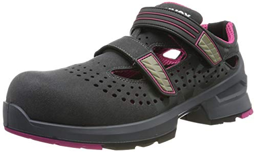 Uvex 1 Ladies Arbeitssandalen - Sicherheitssandalen S1 SRC ESD - Grau-Pink, Größe:40