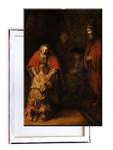 Unified Distribution Rembrandt - Rückkehr des verlorenen Sohnes - Klassisches Gemälde - Replik auf Leinwand 100x70 cm