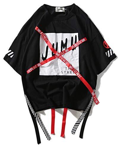 Pizoff Unisex Hip-Hop Coole Sweatshirts Langarm Oversized Straße Stil, 01080002xblack, L