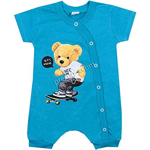 Pelele para bebé | Niño | Manga larga | 100% algodón | Mono | Traje de juego | Mono de juego | Body | Ropa para bebé | Jugadores Manga corta. 74 cm