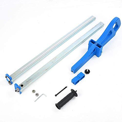 Herramienta de Corte para Paneles de Yeso, Cortador portátil de Paneles de Yeso de Acero Inoxidable con Empuje Manual de 14 rodamientos, Rango de Corte de 20-600 mm, Azul