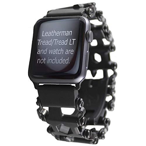 BestTechTool Leatherman-Edelstahl Adapter für Uhr mit Profilmuster (Garmin Fenix5X-Fenix 3, Tread LT)