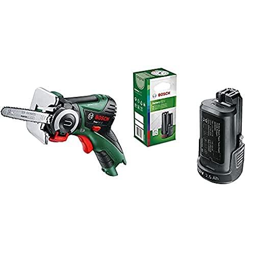 Bosch Home and Garden Easycut 12 - Sierra, Sistema De 12 Voltios, 2.5Ah + Bosch Batería De Litio Pba 12 (12 V, 2,5 Ah, Power For All, Pba 12, Caja De Cartón)