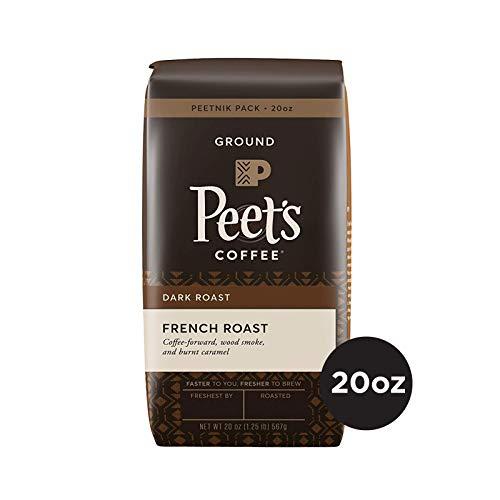Peet's Coffee French Roast, Dark Roast Ground Coffee, 20 Ounce Peetnik Pack