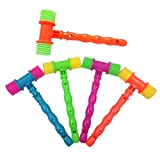 STOBOK 5pcs Musica Martillo Bebe Juguete Musical Educativo para niños (Color Aleatorio)