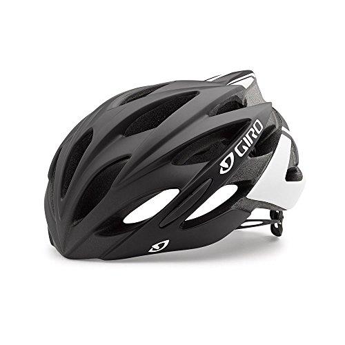 Giro Savant Road Bike Helmet, Matte Black/White, Medium