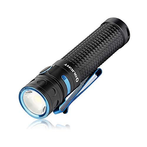 OLIGHT Baton Pro LED Taschenlampe 2000 Lumen, 132 Meter Reichweite, USB Aufladbar, 3500mAh Batterie, 9 Tage Laufzeit Taschenlampen, ideal für Hundespaziergänge, Wandern, Camping, Heimgebrauch usw