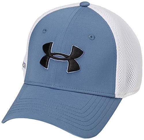 Under Armour Men#039s Microthread Golf Mesh Cap  Mineral Blue 470/Black  Large/XLarge