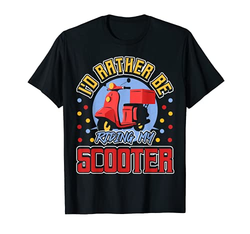 I'd Rather Be Riding My Scooter Retro Motorcycle Camiseta
