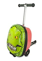 9. ZincFlyte Darwin The Dinosaur Kids 18″ Luggage Scooter