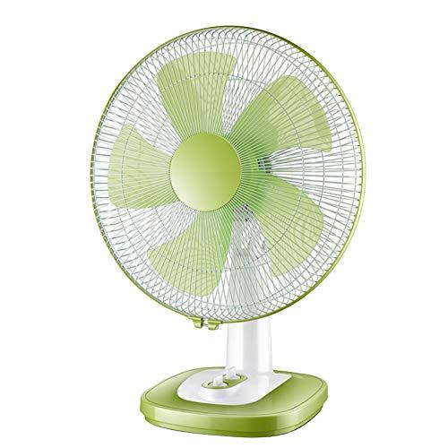 DSJGVN Ventiladores De Sobremensa - Ventilador Portátil, Puede Programarse Durante 1 Hora, Ajuste De 3 Velocidades, Ventilador De Pie Oscilante, Ventilador Vertical, Ventilador Silencioso(Verde)