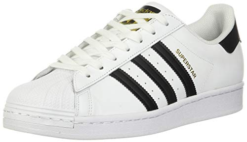 adidas Originals mens Super Star Sneaker, White/Black/White, 11 US