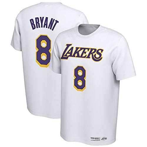 T-Shirt NBA Kobe Bryant Bequemes Top Basketball Fan Brustaufdruck Junger Mann Halbarm, M